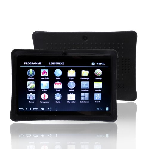 "Photo - NSSTAR Soft Silicone Slim 7 Inch Tablet Protective Back Case Cover for Chromo,Dragon Touch A13 Q88,Y88,Afunta Q88,AGPtek,Alldaymall Q88,FastTouch,Zeepad 7.0,Fortress,Tagital,ZTO N1,ZTO N1 Plus,Alldaymall A88X 7'',NeuTab N7 Pro,Chromo Inc?7"" (Black)"