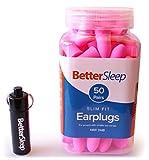 Better Sleep Slim Fit Foam Ear Plugs for Women with Smaller Ear Canals