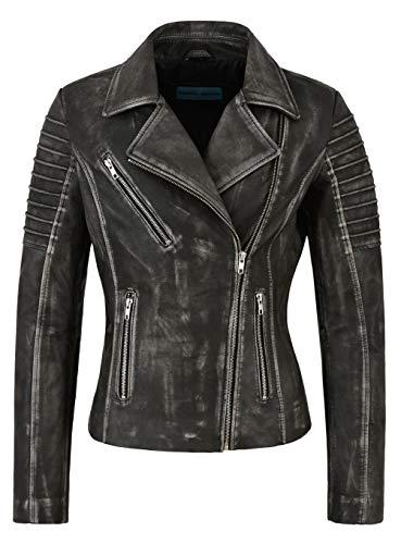 Veste En FemmesDesign Spécial Cuir À 9334 La Mode Biker Vintage Noir Style Pour jAL534R