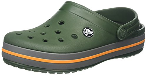 Crocs Crocband Shoe for Adults, Size: 4 D(M) US Mens / 6 B(M) US Womens, Color: Forest Green/Slate Grey