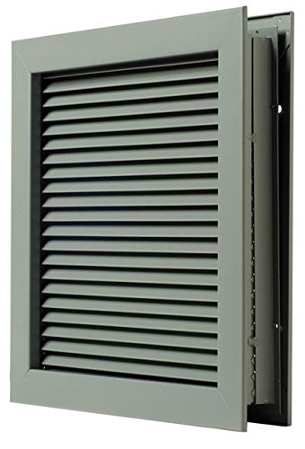 National Guard L700RX20X8 L-700-Rx-20X8 Self Attach Louver 20 x 8'' , 20'' Height, Stainless Steel by National Guard