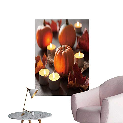(Vinyl Artwork Decorative Halloween Pumpkins and Candles Easy to Peel Easy to Stick,12