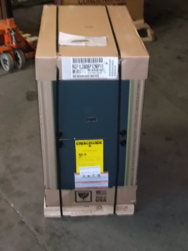 YORK EVCON 1 STG MULTIPOSITION 80,000 BTU 80% GAS FURNACE (York Furnace)