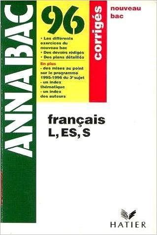 Livres FRANCAIS PREMIERE L/ES/S CORRIGE epub pdf