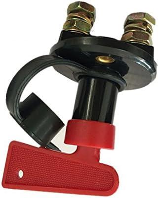 CUHAWUDBA Batterietrennschalter trennen Schnitt AUS Strom-Kill-Schalter Fuer Marine Auto Boot RV ATV Fahrzeuge mit 2 Schluesseln Typ I 1 Stueck
