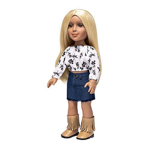 """I'm A Girly Fashion Doll Zoe w/ Golden Blonde Interchangeable Removable Synthetic Wig to Style - Fashionista Model Figure for Kids 8+ Years - 18"""" Tall"""