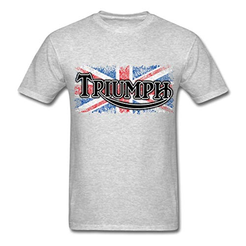 Triumph Gift Idea Political Funny Words Printed Men T-Shirts Heather Gray Medium (Heather Triumph)