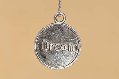 23x19MM Dream Coin Charm Double Side Antique Tibetan Silver Tone Zinc Alloy Charm 61736-2061 10 Pcs #YBL/_20582