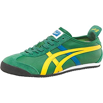 check out 116f8 d3a4c Onitsuka Tiger Mens Mexico 66 Leather Trainers Amazon Green ...