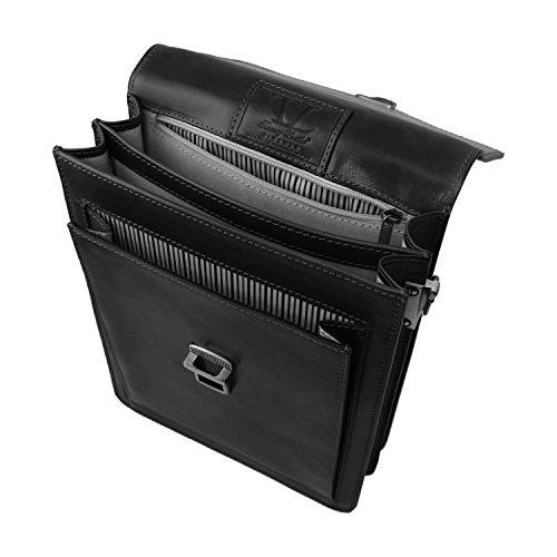 Tuscany Leather - David - Sac Bandoulière en cuir pour homme - Grand modèle - Miel