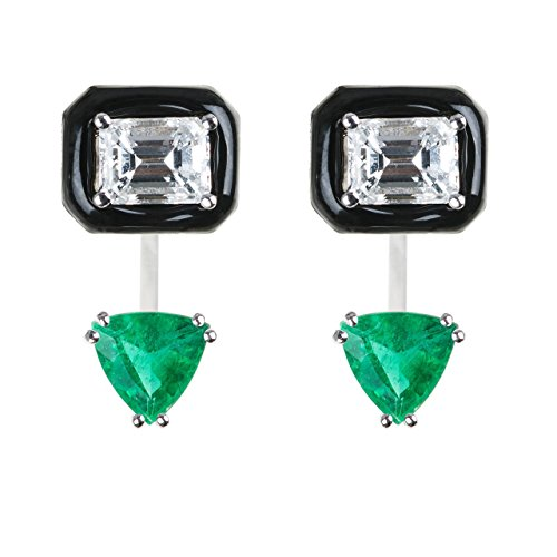 Gemfields x MUSE femme  18carats (750/1000)  Or blanc|#Gold Triangle   Vert Smaragd Diamant