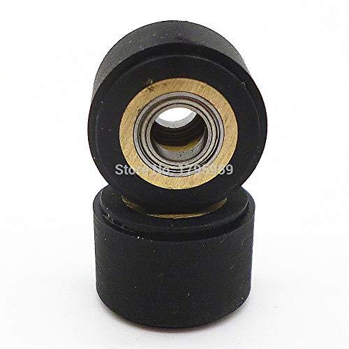 (Maslin 2pcs Pinch Roller Hole Dia 5mm Set for Roland Vinyl Cutting Plotter Cutter Cutting 5 x 11 x 16mm Engraving Machine Printer Parts)