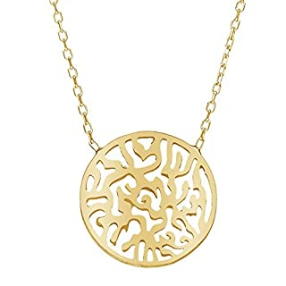 Shema Israel Gold Necklace for Women and Bat Mitzvah Gifts