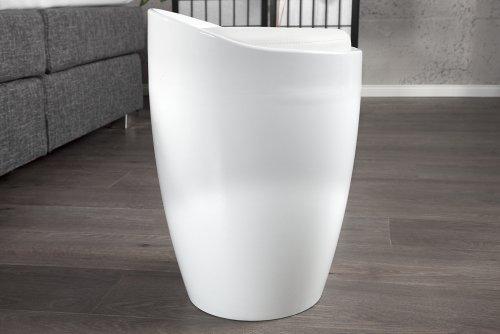 Design Wäschekorb design wäschekorb perla weiss 25l mit sitz wäschebox gepolstertes