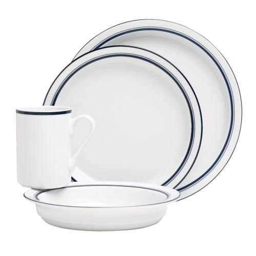 Dansk 07384CL Christianshavn Blue 4 Piece Place Setting,