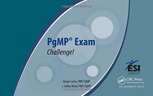 PgMP?? Exam Challenge! (ESI International Project Management Series) by Ginger Levin PMP PgMP (2013-06-26)