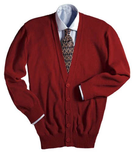 Edwards V-Neck Button Acrylic Cardigan Sweater 3XL RED