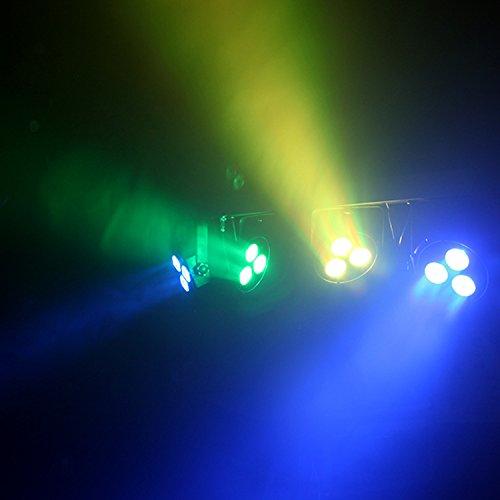 dragonx 4 bar led mobile dj stage lighting packages portable par can kit gig spotlight bar set. Black Bedroom Furniture Sets. Home Design Ideas