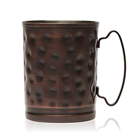 Libbey Moscow Mule Hammered Copper Mugs, Set of 4