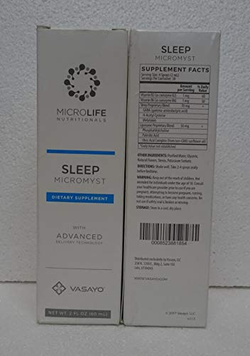 Vasayo Microlife Sleep Micromyst Dietary Supplement 2oz (Pack of Two) by Vasayo (Image #1)