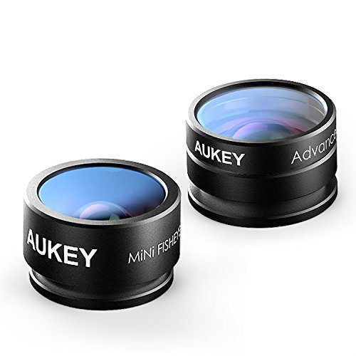 Amazon #LightningDeal 88% claimed: AUKEY Optic iPhone Lens, 160° Fisheye Lens + 20x Macro Mini Clip-on Cell Phone Camera Lens Kit for Samsung, Android Smartphones, iPhone