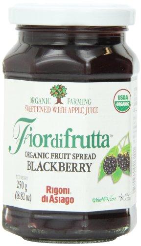 Rigoni Di Asiago Fiordifrutta Organic Fruit Spread, Blackberry, 8.82 Ounce (Organic Apricot Spread)