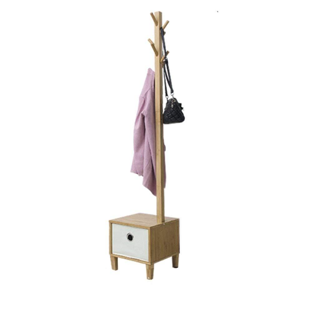 コートラックフロアスタンドホームキッズシンプル洋服ラックウォールハンガー無垢材寝室 HAIMING (色 : A)  A B07S3L635S