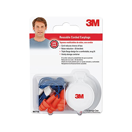 3M 90716 80025T Corded Reusable Earplug