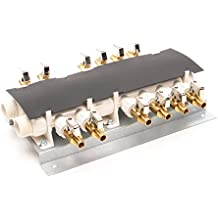 Apollo PEX 6907912CP 12 Port PEX Manifold (3/4-inch Inlets, 1/2-inch Outlets) with Shutoff Valves