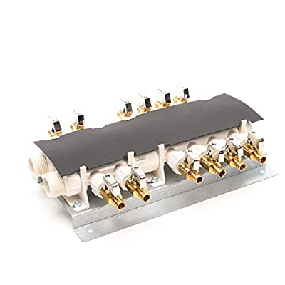 Image of Apollo PEX 6907912CP 12 Port PEX Manifold (3/4-inch Inlets, 1/2-inch Outlets) with Shutoff Valves Home Improvements