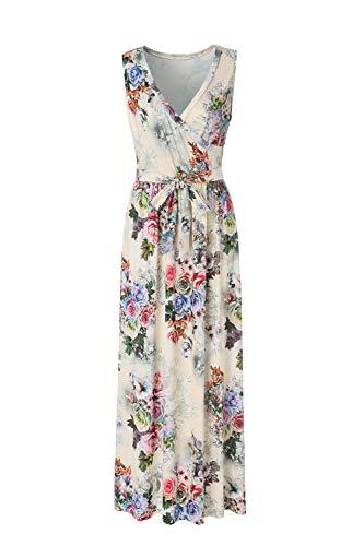 BEAUTIFUL-LIFE Summer Dresses Summer Dresses for Women Maxi Dresses Maxi Dresses (Medium, Apricot)
