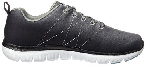 Skechers 12757, Zapatillas Mujer, Gris oscuro, 35 EU