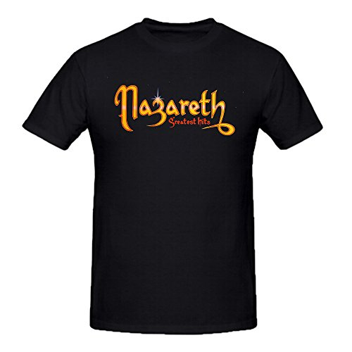Nazareth Greatest Hits Shirts 100 Cotton Men Round Neck Black (Greatest Firearms 100)