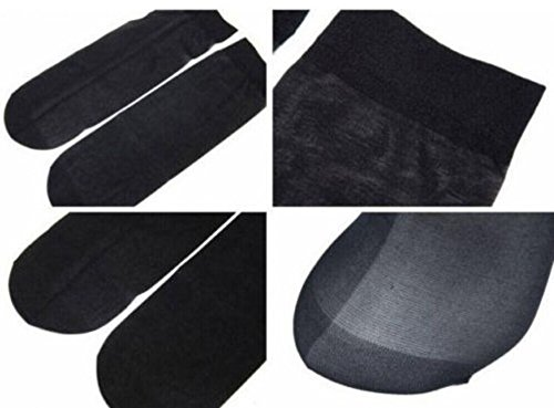TRY ON SOCKS PEDS FOOTIES DISPOSABLE SOX WOMENS MENS set of 200pcs (black color--20 pair)