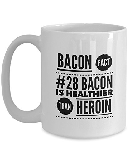 Bacon Coffee Mug, Cool Bacon Gifts for Bacon Lovers, Bacon Gag Gifts, Funny Bacon Gifts 15oz