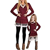 HEHEM Baby Clothes Newborn Tops Newborn Infant Set Mom&Me Toddler Baby Girls Long Sleeve Lace Ruched Blouse Tops Family Outfit