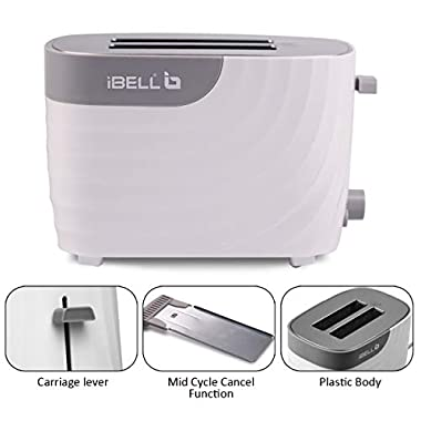 iBELL WG70 700-Watt Premium Pop-up Bread Toaster with Crumb Tray, Mid Cycle Heating Element (White) 13