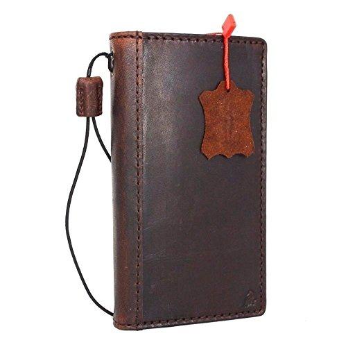Genuine Full Leather Case for Samsung Galaxy Note 5 Book Pro Wallet cover slim brown Handmade Retro thin DavisCase