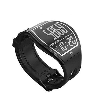 TR e - creativa relojes inteligentes paso movimiento bluetooth monitoreo de calibre sueño pantalla de superficie de la tinta sedentaria , black: Amazon.es: ...