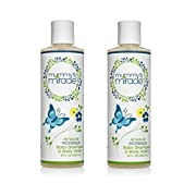Best baby shampoo and wash. 100 percent all natural by Mummys Miracle. Baby Wash for Head-to-toe Bubble Bath. Good for Excema, Cradle Crap, dry skin, dry hair, gentle hypoallergenic 8 ounce. packs available