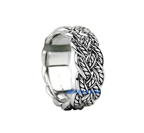 DAVID YURMAN STERLING SILVER WOVEN KNOT 10 mm WIDE BAND RING NEW ORIGINAL POUCH SIZE 10 by Unknown