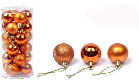 D/écoration darbre de No/ël argent, 48 D/écoration pour sapin de No/ël Couleur : argent MC Lot de 48 boules de No/ël en verre de 3 cm de diam/ètre