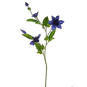 FloristryWarehouse Clematis Spray Artificial Silk 31 inches Dark Blue 38