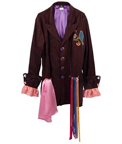 elope Men's Mat Hatter Tea Party Replica Jacket (L/XL) -