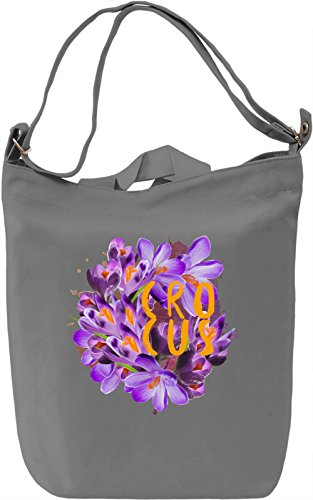 Crocus Borsa Giornaliera Canvas Canvas Day Bag| 100% Premium Cotton Canvas| DTG Printing|