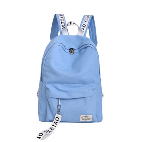 School Book Bag for Men Women,Sunfei Unisex Canvas School Style Travel Satchel School Bag Backpack Bag (Sky Blue) by Sunfei
