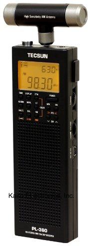 Tecsun PL-360 Digital PLL Portable AM/FM Shortwave Radio with DSP, Black