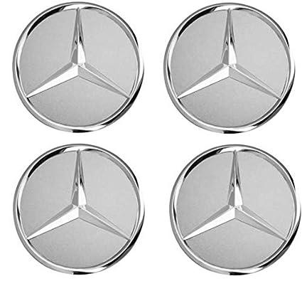 Desconocido Generic - Tapacubos de Repuesto para Mercedes Benz, 4 Unidades, 75 mm, Color Negro
