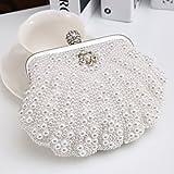 FLOW ZIG Women's Delicate Hand Pearl Set Drill Evening Handbags