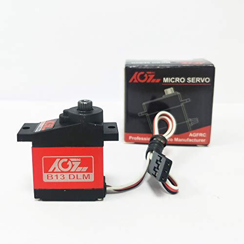 AGFrc Sub-Micro Servo Motor - Upgrade CNC case Metal Geared 13g 3.8KG-cm for rc Aircraft Rc Robot Controls Mini Servo